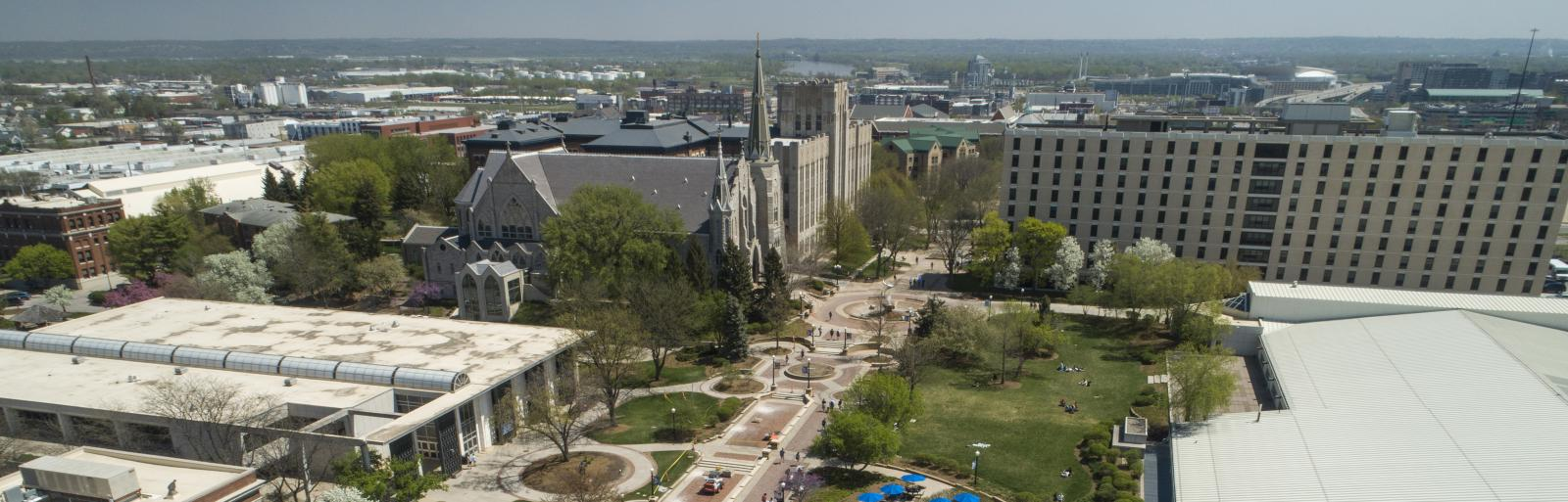 Creighton campus and mall